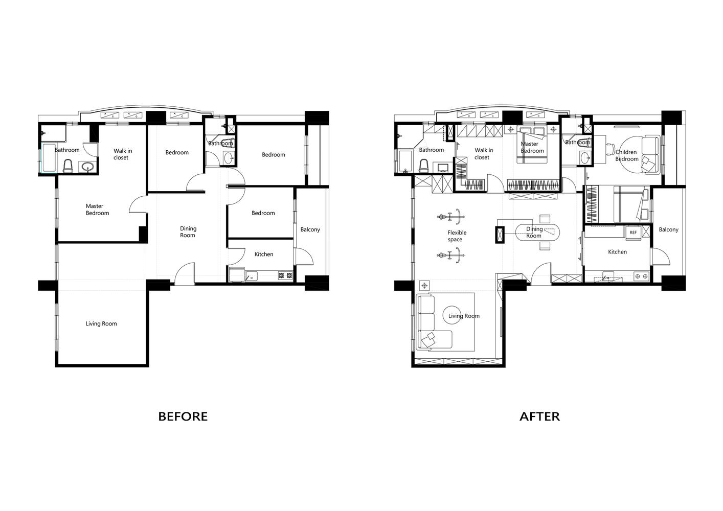 2.Before After Floor plan