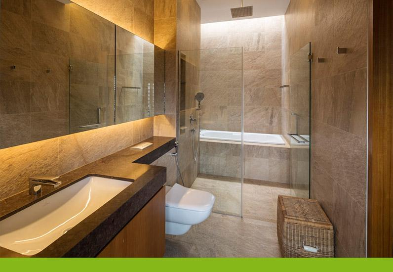 Thiết kế phòng tắm biệt thự nghỉ dưỡng