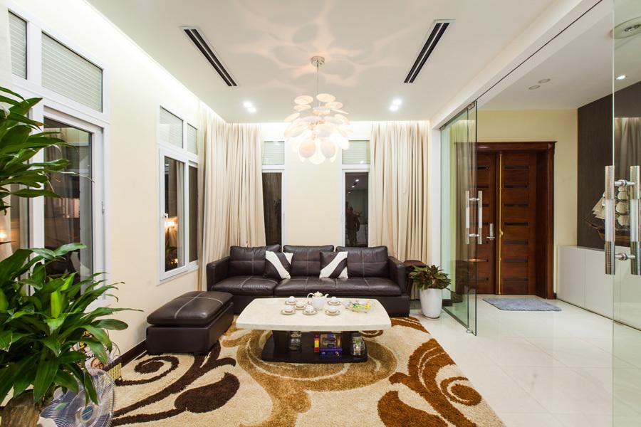 Thiết kế phòng khách Biệt Thự Sang Trọng Tại Khu SATO