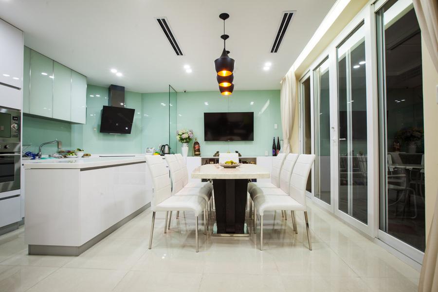 Thiết kế phòng bếp Biệt Thự Sang Trọng Tại Khu SATO